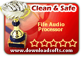 "File Audio Processor 4.1 has been carefully tested on 2006-06-13 in the DownloadSofts Labs and has been found ""100% Clean and Safe to install"
