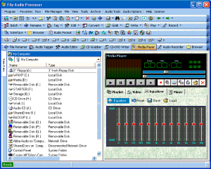 File Audio Processor main window